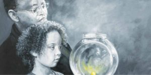 Thinking of Wishes - Molly's Memory Jar - Children's Book Illustration by Jacqui Grantford
