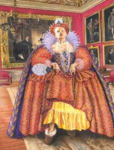 Queen Elizabeth - Shoes News - Children's Book Illustration by Jacqui Grantford
