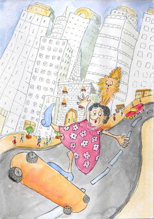 Crazy Granny - Children's Book Illustration By Jacqui Grantford