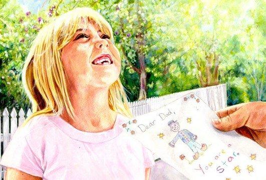 Smiling - The Letter - Children's Book Illustration By Jacqui Grantford