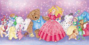 Dancing - Pemberthy Bear - Children's Book Illustration by Jacqui Grantford