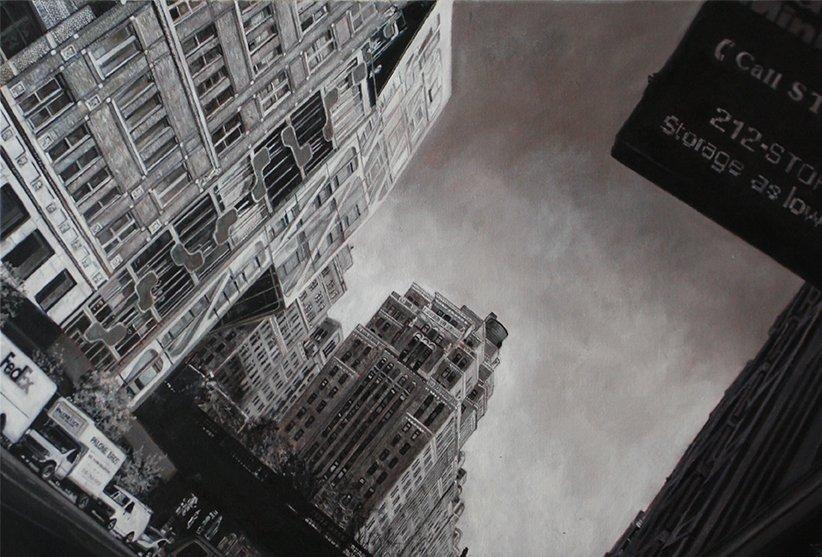 New York, Oil On Canvas, 90cm X 60cm