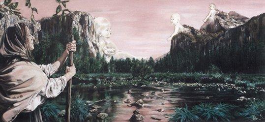 Fine Art - Satu- 120cm x 50cm, Oil on Canvas