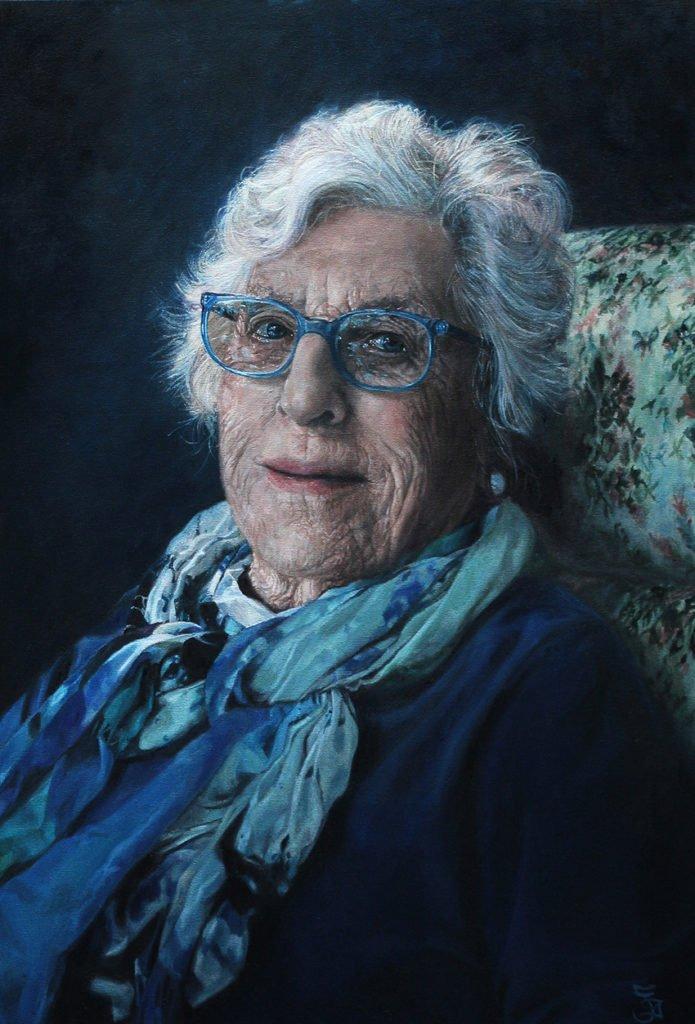 Portrait of Noeline by Jaq Grantford