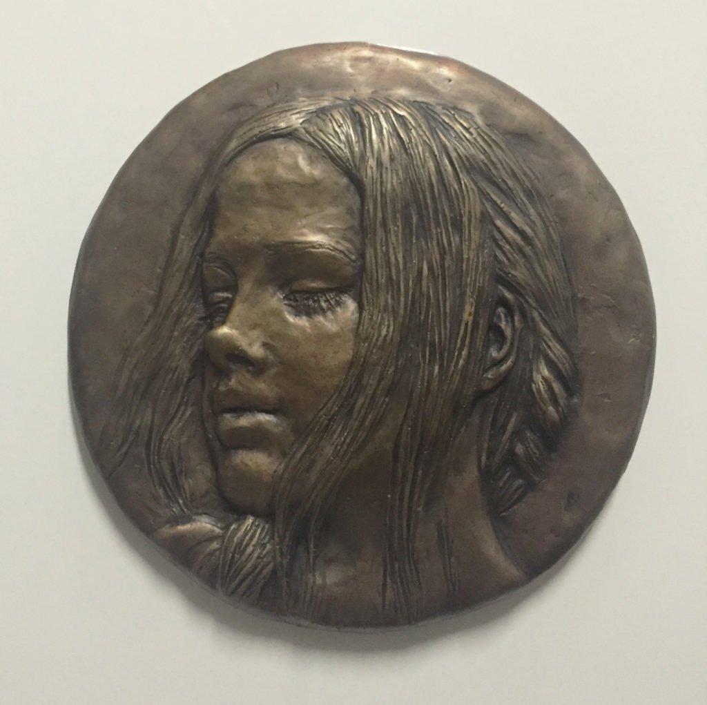 Jaq Grantford Fine artist and portrait artist - Relief Sculpture - Portrait of Danni